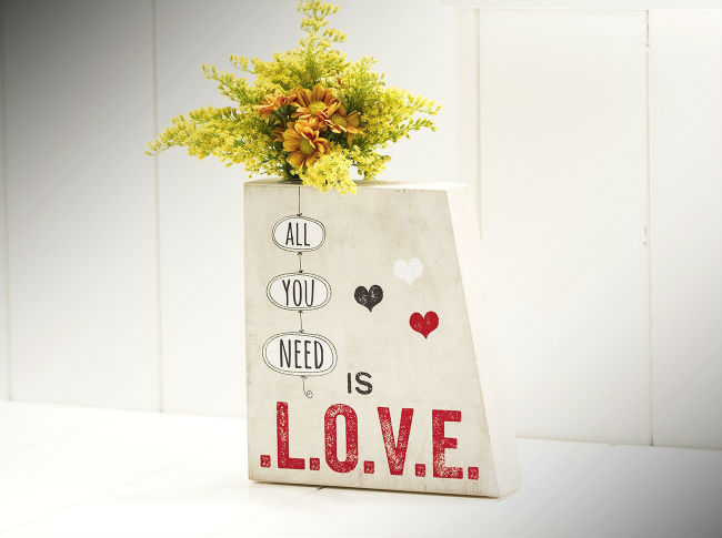 """Vaso Frase """"All You Need Is Love"""""""